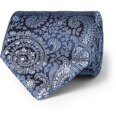 CharvetPaisley-Patterned Woven-Silk Tie