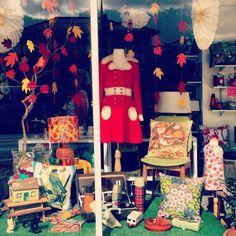 Vintage shop window display.