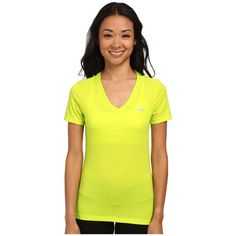 adidas Ultimate Short Sleeve V-Neck Tee Women's Workout ($22) ❤ liked on Polyvore
