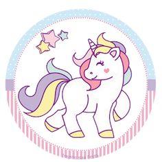 Unicornio: Wrappers y Toppers para Fiestas de Cumpleaños para Imprimir Gratis.