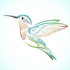 hummingbird tattoo | Colorful Tribal Hummingbird by kuzzie ...