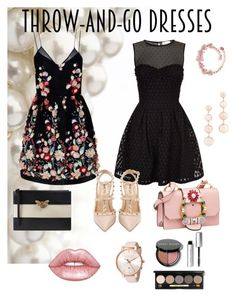 """""""Throw-and-go"""" by eviiiblabla on Polyvore featuring Mode, The 2nd Skin Co., RED Valentino, Bobbi Brown Cosmetics, Gucci, Valentino, Lime Crime, Ted Baker und Rebecca Minkoff"""