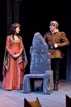 Ashley Nolan and Drew Battles as Lady Macbeth and Macbeth in the New Orleans Shakespeare Festival's production onstage through July 11th.