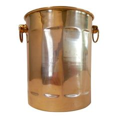 Image of Brass Wine Chiller with Decorative Rings