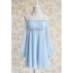 Vintage Noodle Strap Ruffled Embroidery Backless Chiffon Dress For Women