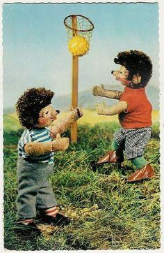 Mecki The Hedgehog, Sport, Basketball, Old Postcard