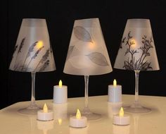 Wine Glass Tea Light Lamp Candle Lamp Lamp Shades