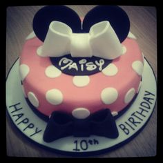 Minnie Mouse birthday cake :-)