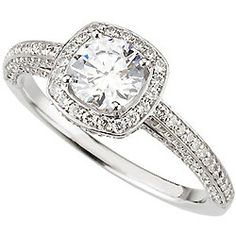 Semi-Mount Diamond Engagament Ring