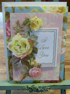 Anna Griffin Card Making Kits | ... Love You Card Anna Griffin Design and Supplies Vintage Look Roses