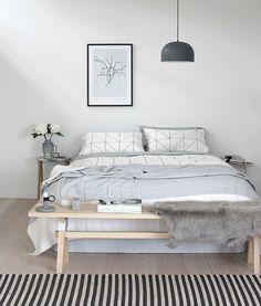 skandinavisches design schlafzimmer inneneinrichtung