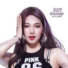 Loạt tranh vẽ đẹp như người thật của Suzy gây 'sốt' cư dân mạng