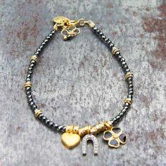 Bracelet Lucien  vermeil et diamants de la marque 5 Octobre, édition limitée, made in Paris.
