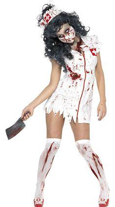 Halloween ZOMBIE HACKER NURSE COSTUME - Cadılar Bayramı Kostümleri