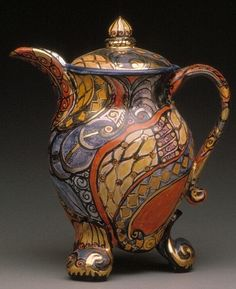 Rosie Wynkoop coffee pot.jpg by clayglazepots, via Flickr