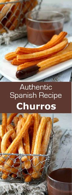 The origin of Spanish churros is very controversial. Find out the story and authentic recipe of the delicious chocolate con churros. Spanish Desserts, Spanish Dishes, Spanish Cuisine, Spanish Tapas, Authentic Spanish Recipes, Authentic Mexican Churros Recipe, Mexican Food Recipes, Dessert Recipes, Spanish Food Recipes