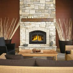 Buy the Napoleon Black Direct. Shop for the Napoleon Black 60000 BTU Wood Burning Fireplace and save. Country Fireplace, Fireplace Hearth, Fireplace Design, Fireplace Ideas, Wood Mantle, Farmhouse Fireplace, Small Fireplace, Modern Fireplace, Rustic Farmhouse