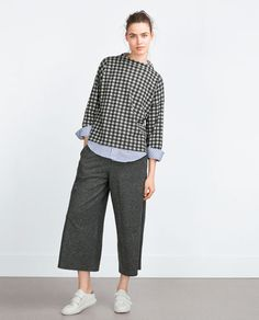 ZARA - NEW IN - CROPPED TROUSERS