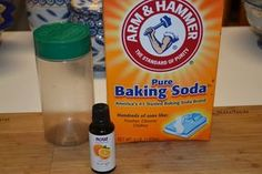 Homemade Carpet Powder – baking soda and orange essential oil with  Parmesan cheese container, or some other shaker to freshen up carpet before guests come over