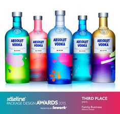 The Dieline Package Design Awards 2013: Spirits, 3rd Place - Absolut Unique  - The Dieline -