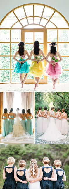 25 Fun Wedding Photo Ideas and Poses for Your Bridesmaids! Back Poses!
