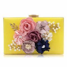 Women Clutch Flower Day Evening Clutch Purse Handbag