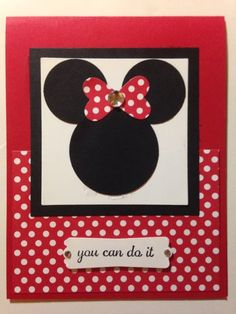 Minnie Mouse Punch Art- cute for a little girl birthday card as well