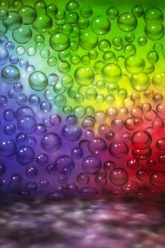 MA6504 Abstract Muslin Backdrop Rainbow Bubbles Hand Painted - Backdrop Outlet