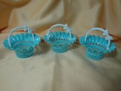Three Pretty Vintage Easter Basket Candy Cups $9.00