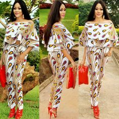 Online Hub For Fashion Beauty And Health: Stylish Ankara Jumpsuit Styles For The Pretty Ladi. Ankara Styles For Men, Latest Ankara Styles, Latest African Fashion Dresses, African Dresses For Women, African Print Fashion, African Attire, Ankara Fashion, African Wear, Ankara Jumpsuit