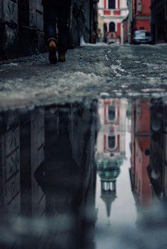 Poznan, Poland - photo by Erik Witsoe Reflection Photos, Reflection Photography, Water Photography, Stunning Photography, Artistic Photography, Abstract Photography, Photography Ideas, Cool Pictures, Cool Photos