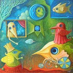 Surreal Paintings converted into Beautiful Impasto Oil Painting by Ivaratham. http://ivaratham.blogspot.in/2015/01/surreal-paintings-converted-into_5.html