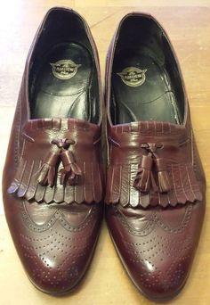 Vintage, The Florsheim Shoe, Cordovan Burgundy, Kiltie Tassel, Loafers (Sz 9D) #Florsheim #LoafersSlipOns