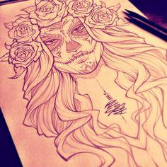 Behance :: Dia De Los Muertos by Absorb81 - Craig Patterson