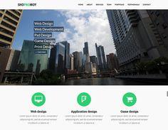 Free Bootstrap Template Game Design, Web Design, Free Portfolio Template, Bootstrap Template, Web Development, Skyscraper, Desktop Screenshot, Templates, Grief