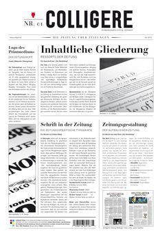 newspaper heads on Editorial Design Served