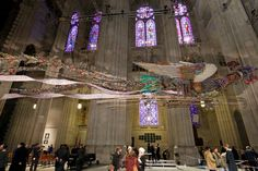 The New York cathedral launches an exhibition of the artist's glittering