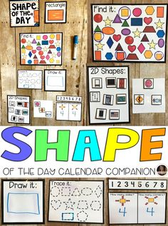 Shape of the Day Calendar Companion was designed to be a part of your daily morning meeting or carpet time for preschool and kindergarten leveled children. Shape of the day is a great introduction and/or review activity to learn about shapes. As the year progresses the children will learn more about shapes, like the number of sides, corners, shapes in our environment and how to draw shapes.