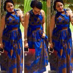 Kiki's Fashion: Jacque Wolper in Kiki's Fashion African Print Maxi...