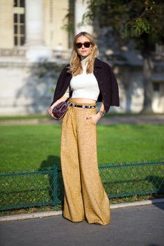 Paris Street Style 2015 Pernille Teisbaek   - HarpersBAZAAR.com