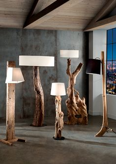 Wood light Lighting Lamp Arc floor lamps Driftwood mirror Driftwood crafts Indus or Nordic-inspired floor lamps in solid wood or metal Driftwood Wall Art, Driftwood Furniture, Driftwood Crafts, Wood Floor Lamp, Arc Floor Lamps, Metal Floor, Rustic Lamps, Wood Lamps, Industrial Lamps
