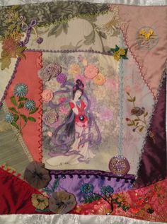 Block 1... Asian Riches...Design by Gloria McKinnon...stitched by Avis Withers