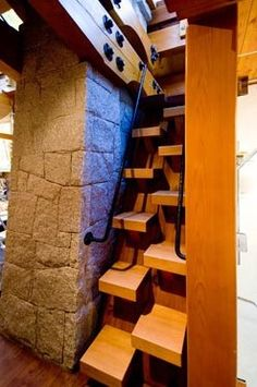 Cool stairway to a secret attic...In my house there will totally be a secret attic and a hidden stairway to get there.