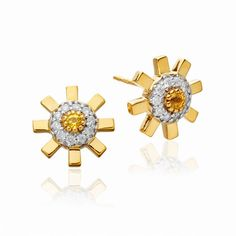 Sun Ray earrings by Stenmark (32,250 CNY) ❤ liked on Polyvore featuring jewelry, earrings, gold, polish jewelry, gold stud earrings, 18 karat gold stud earrings, earring jewelry and 18k gold stud earrings