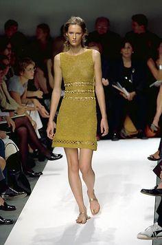 Philosophy | Spring 2000 Ready-to-Wear | 64 Green knit sleeveless mini dress