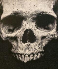 "Stippled Skull .3mm Micron Pen 7""x10"""