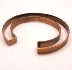 """negative space cuff - oxidized bronze"" by mikiandnora"