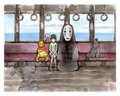 Spirited Away...with Pooh by MyCKs.deviantart.com on @deviantART