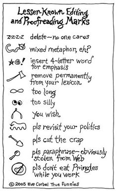 lesser known editing and proofreading marks