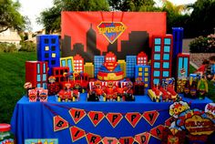 SUPER Hero Party COMPLETE Superman Birthday por KROWNKREATIONS